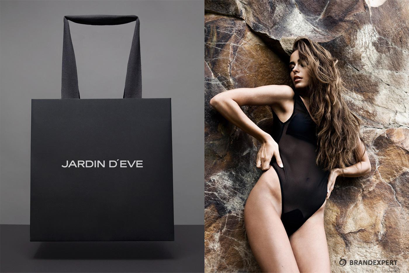 Дизайн фирменных пакетов Jardin d'Eve
