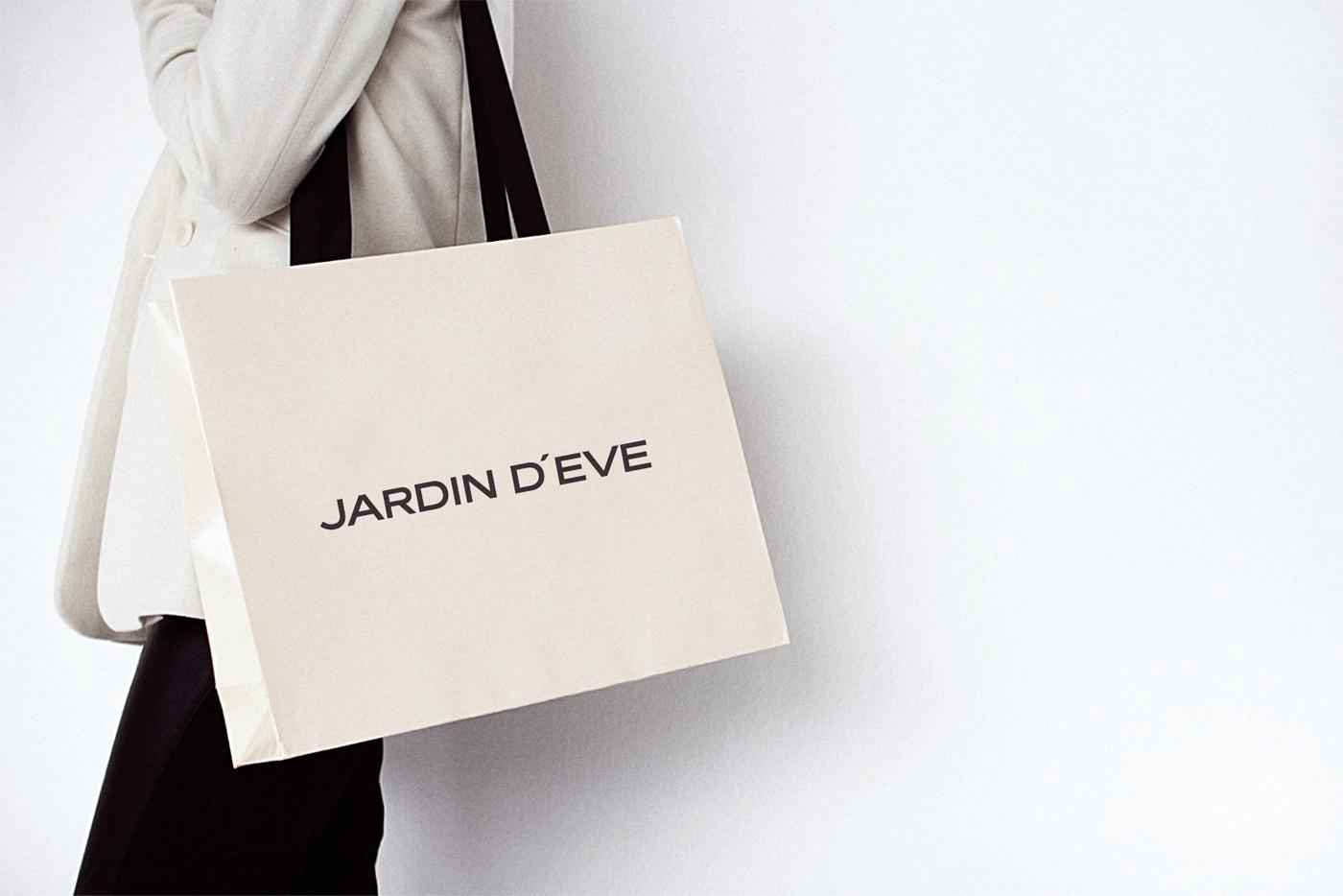 Дизайн носителей фирменного стиля Jardin d'Eve
