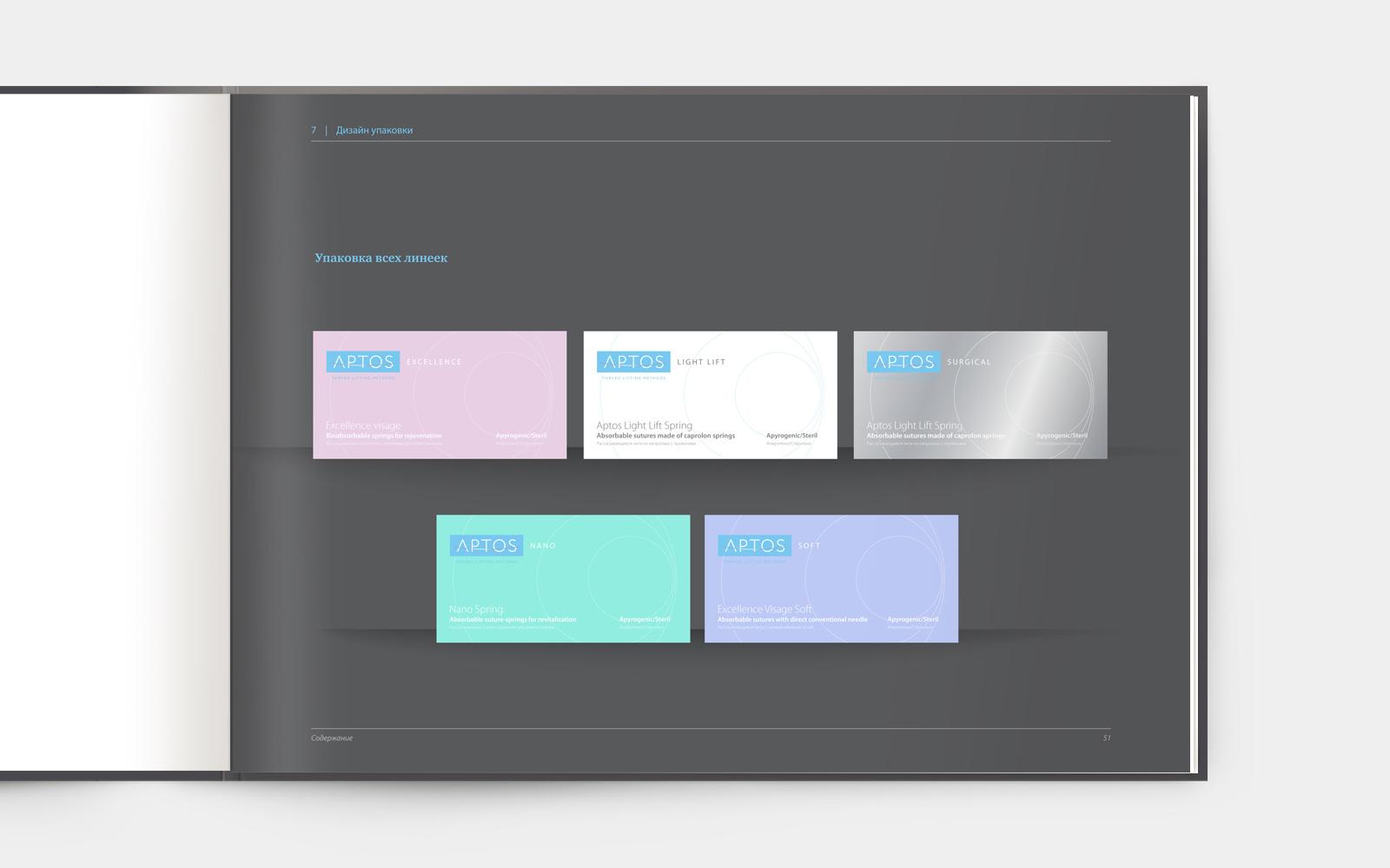 Цветовой код APTOS в дизайне упаковки позволяет эффективно дифференцировать продуктовые линейки