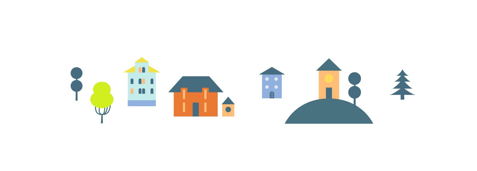 Примеры имиджевой графики в фирменном стиле  «Купи коляску»