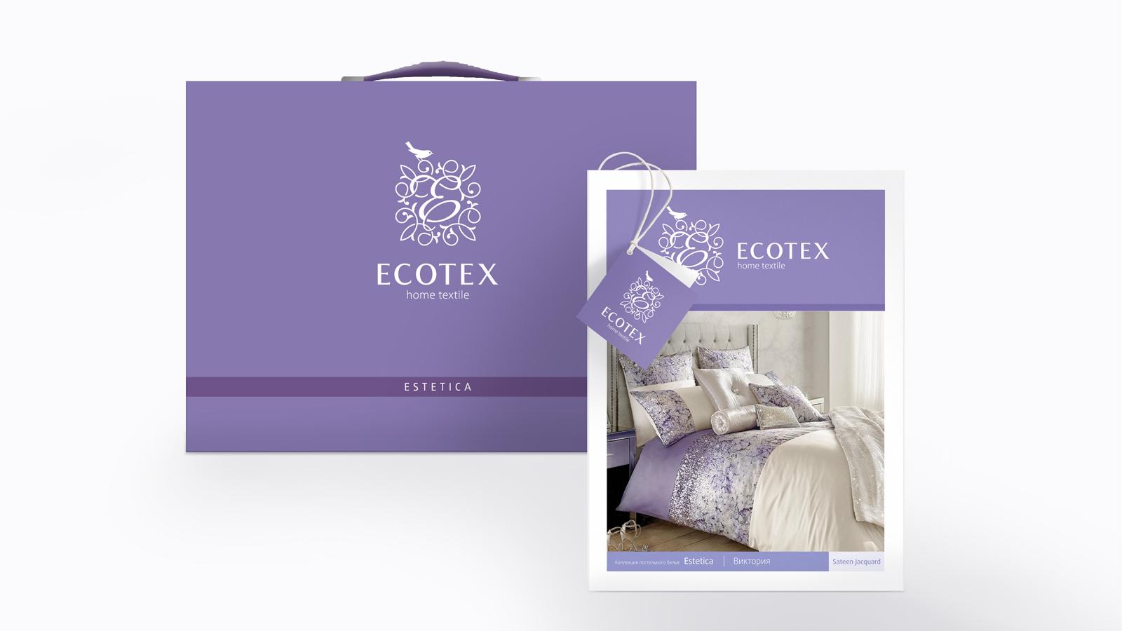 Дизайн упаковки линейки постельного белья Estetica от Ecotex подчеркивает ценности бренда