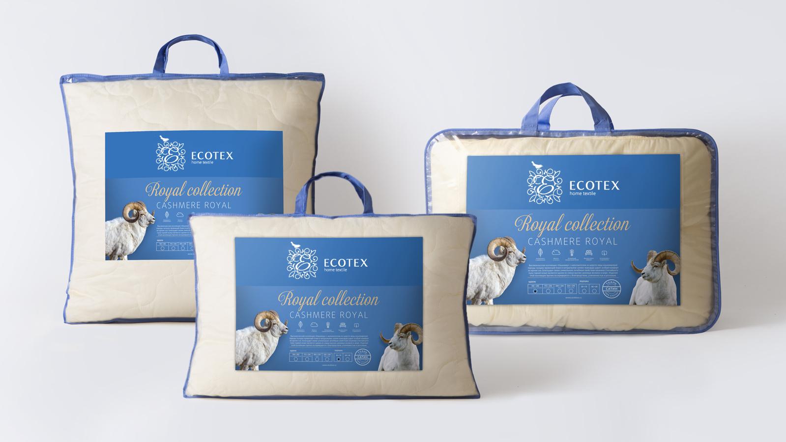Дизайн этикетки постельного белья Ecotex