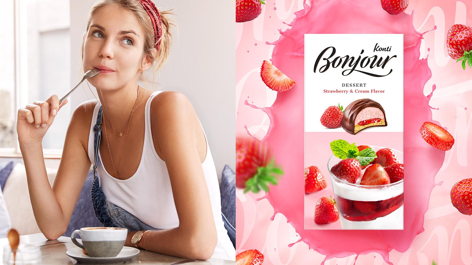 Дизайн упаковки и обновленная айдентика корректно позиционируют бренд в сегменте изысканных десертов