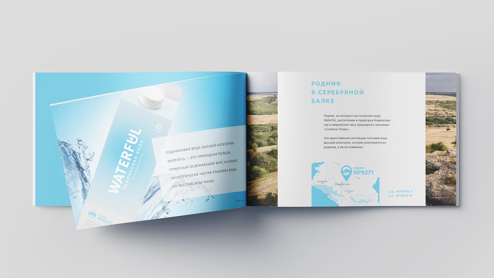 Дизайн каталога воды Waterful
