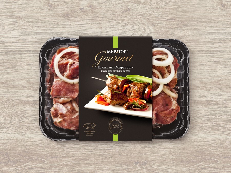 Дизайн этикетки Мираторг Gourmet