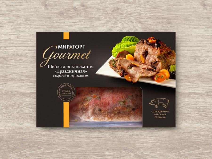 Дизайн упаковки готовых для выпекания продуктов Мираторг Gourmet