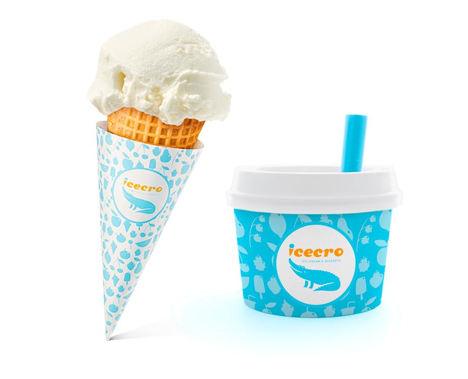 Нейминг бренда сети кафе мороженого ICECRO