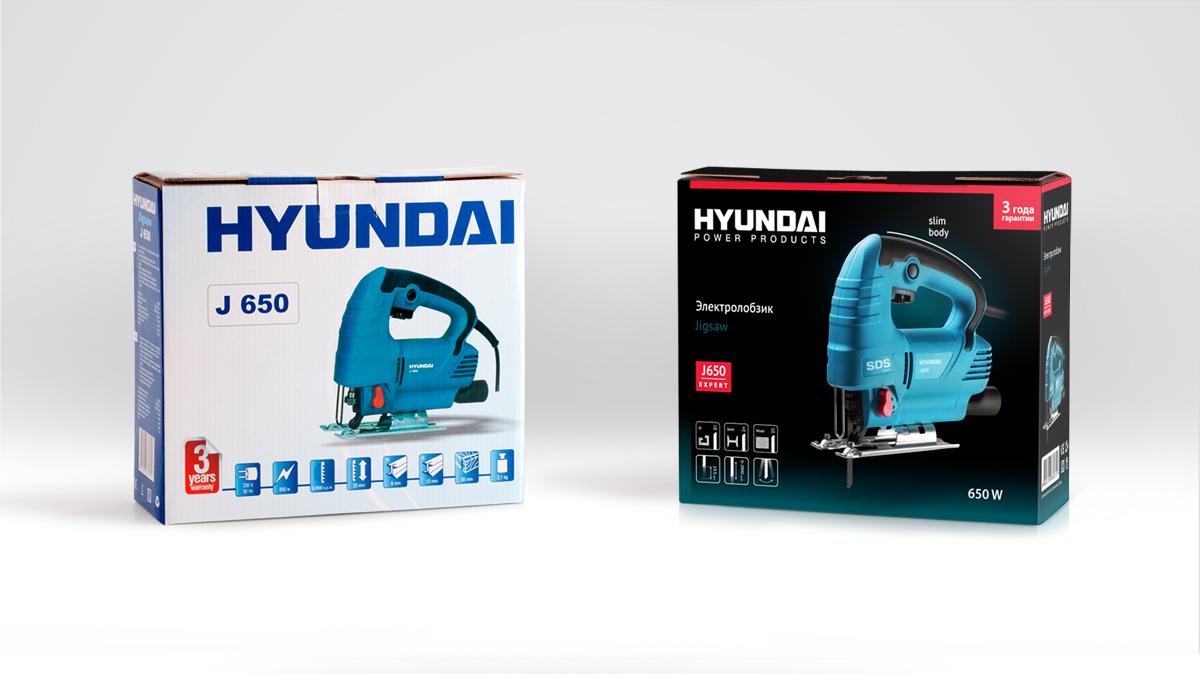 Дизайн упаковки HYUNDAI: до и после