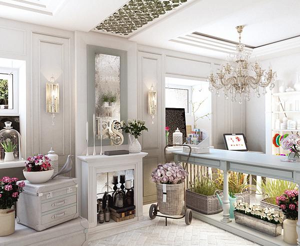 Дизайн салона цветов